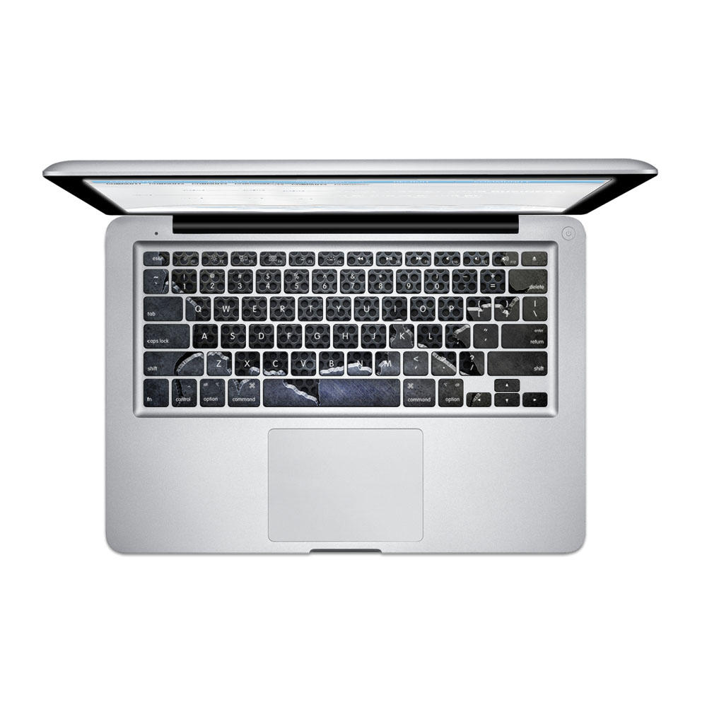 Pag fragmentaria placa de acero PVC teclado libre de burbujas autoadhesivo Decal para MacBook Pro 13 de 15 pulgadas