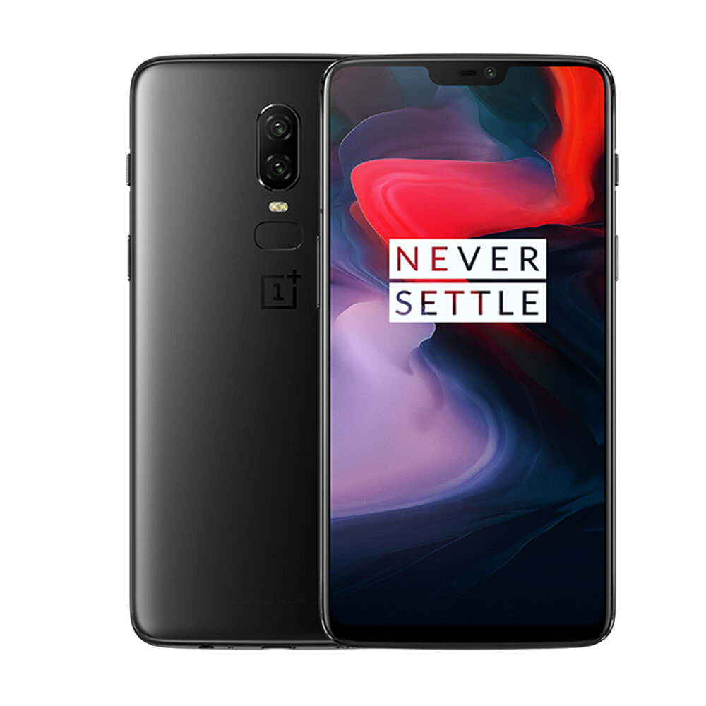 OnePlus6 Global Version 6.28 Inch Android 8.1 NFC Fast Charge 8GB 256GB Snapdragon 845 4G Smartphone
