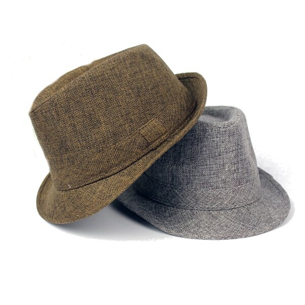 781780ec Men Women Cotton Wide Brim Panama Fedora Hats Jazz Caps Top Beach Visor Hat  COD