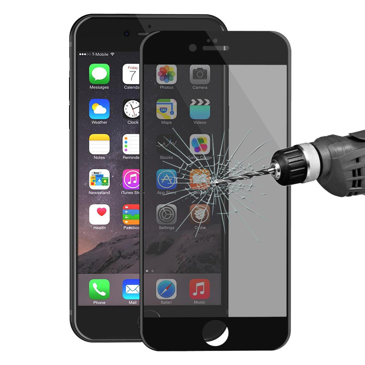 ENKAY Anti Protezione dello schermo per vetro temperato in fibra di carbonio da 0,26mm 9H Spy 3D per iPhone 6 6s