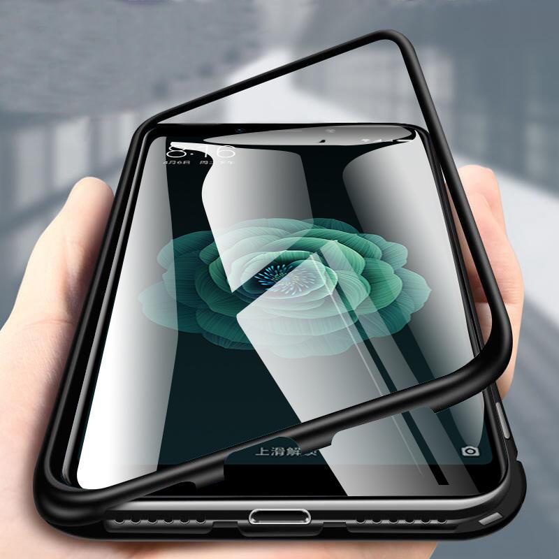 Bakeey 360 ° Magnético de adsorción Flip Metal templado vidrio protector Caso para Xiaomi Mi A2 / Mi 6X