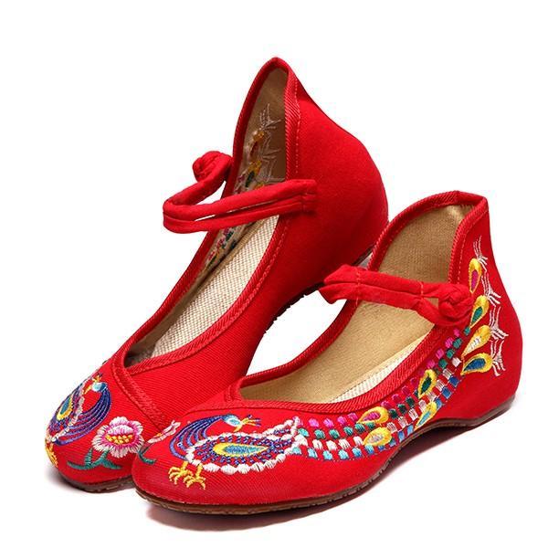 Мы размер 5-10 вышивка цветочный национальный ветер chineseknot пряжки марочные плоские туфли