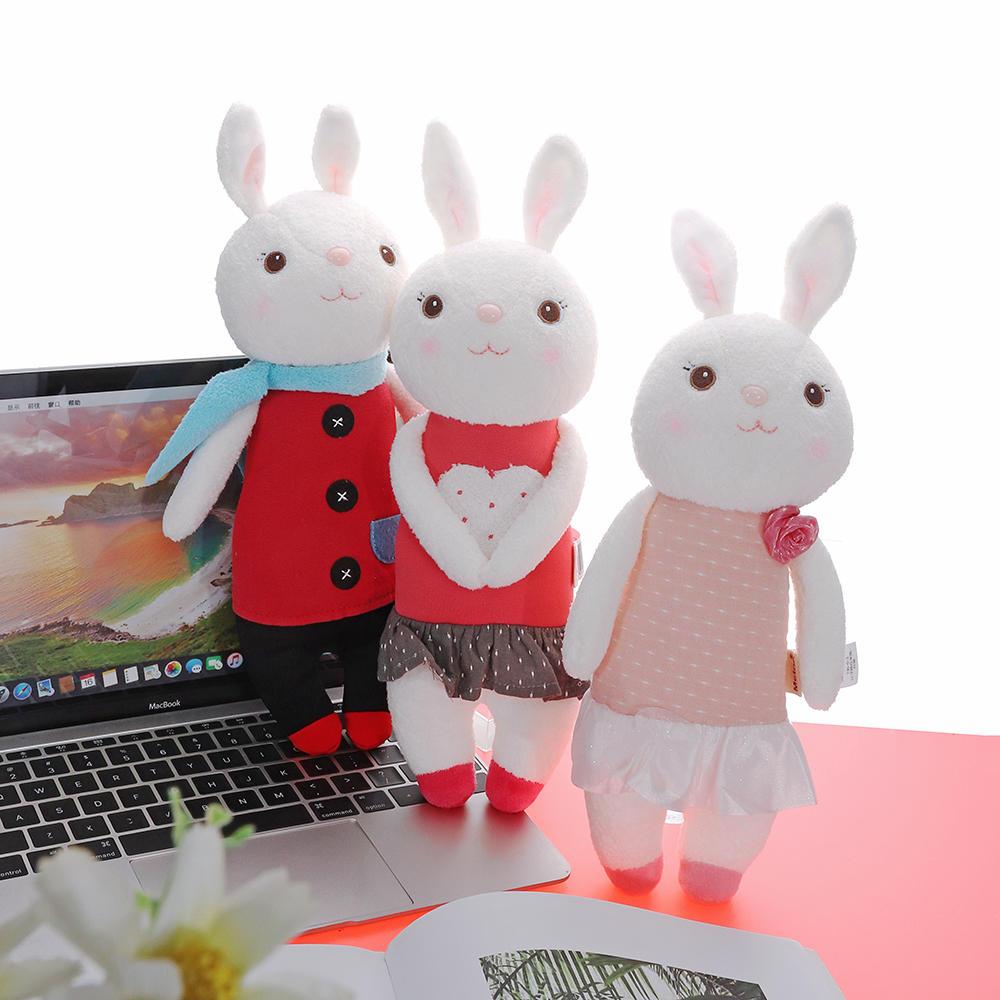 Metoo 35CM Lovely Doll Angela Tiramisu Rabbit Plush Toys For Girl Birthday Gift COD