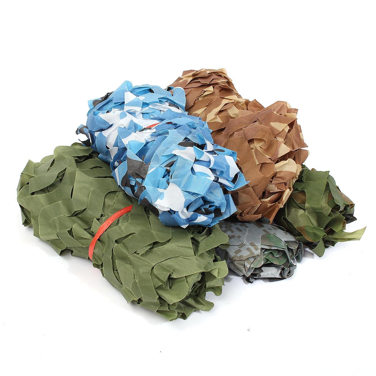 1mx1.5m Camo Filet Camouflage Filet pour Couverture de Voiture Camping Woodland Militaire Chasse Tir
