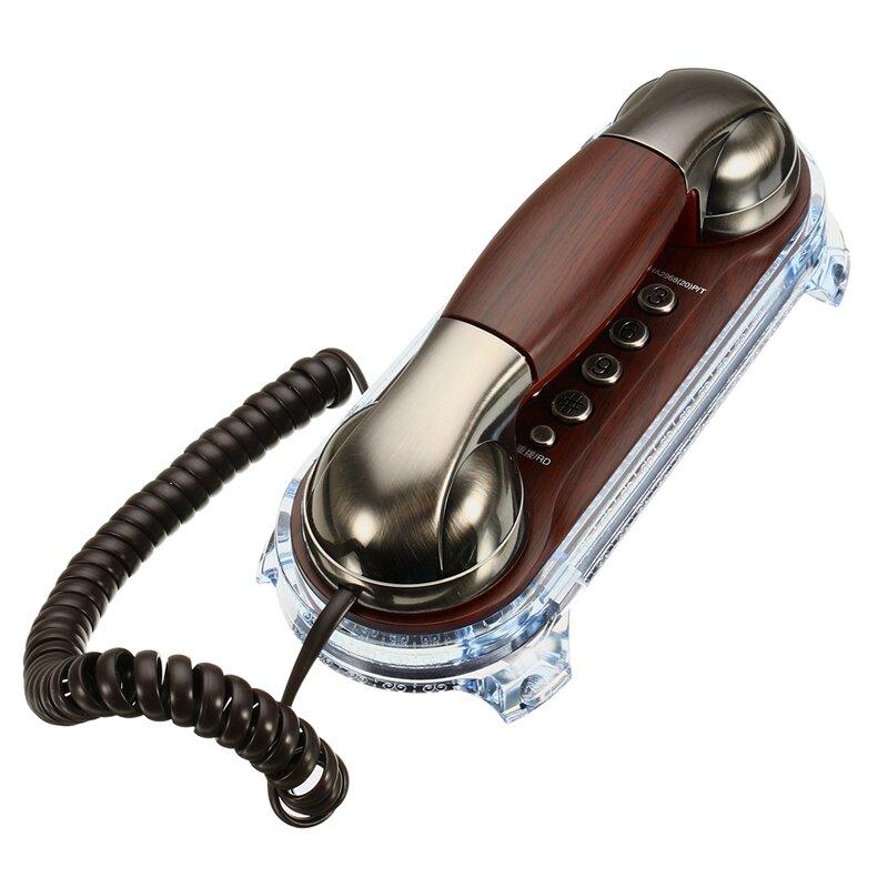 Téléphones rétro antiques fixés par téléphone fixe de téléphone fixe par téléphone pour l'hôtel de bureau à la maison