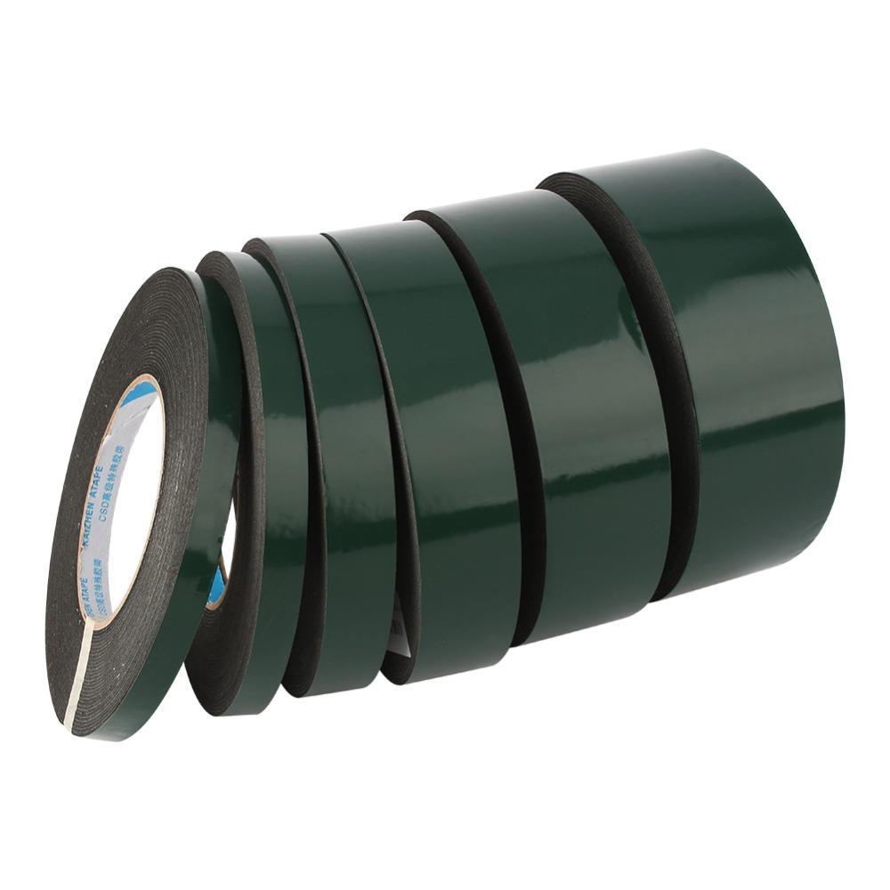 Cinta adhesiva de doble cara de 10 m Etiqueta adhesiva de espuma negra 10/12/20/30/40/50 mm Ancho para Coche Hogar al aire libre fijo