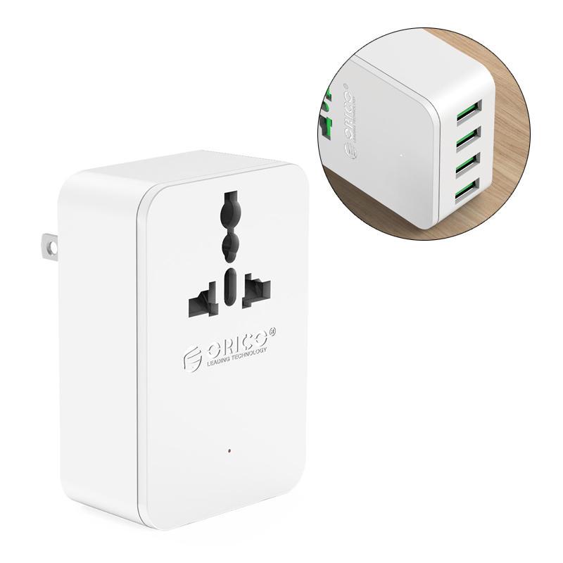 ORICO S4U Adattatore di conversione della spina universale da 20W con 4 porte USB di caricamento