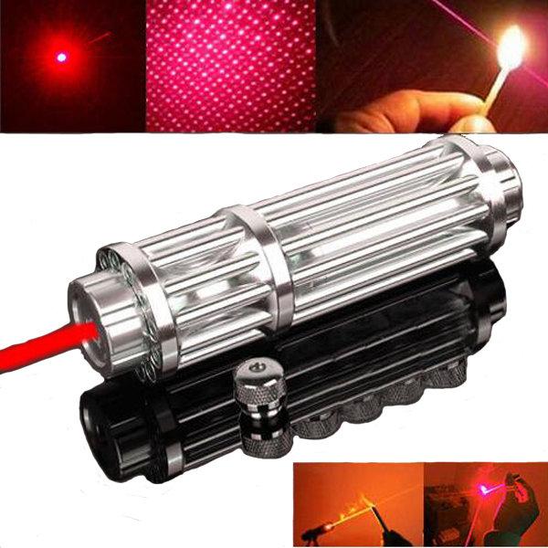 U'King ZQ-12HB 650nm Red Light Power Beam Cigarette Burning Laser Pointer Pen Suit