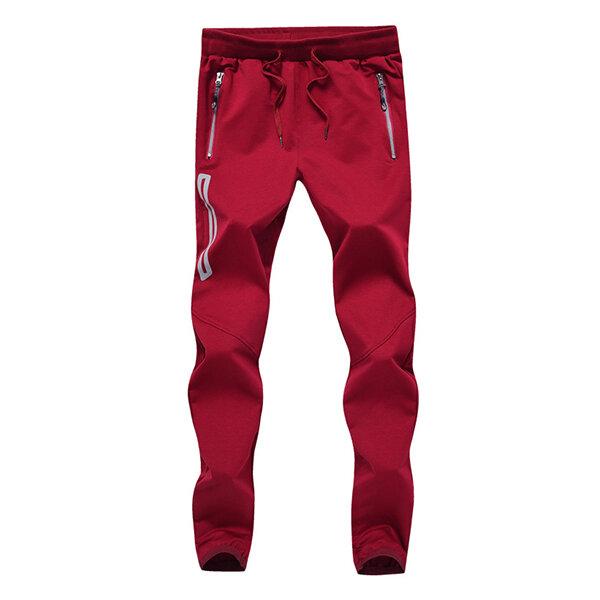 Pantalons de sport de jogging occasionnels de printemps des hommes pantalons de sport respirants de taille taille élastique S-4XL