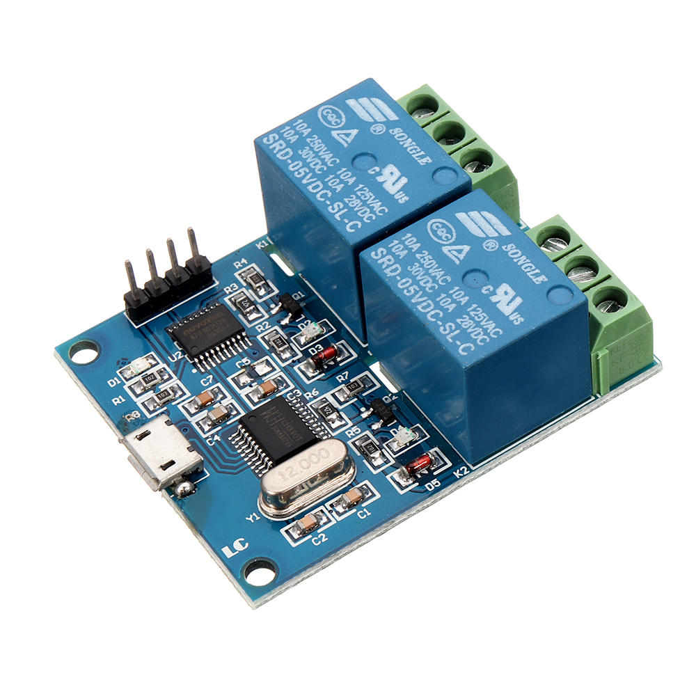 Lcus 2 Dual Channel Usb Relay Module Intelligent Control Switch The And To Another Circuit