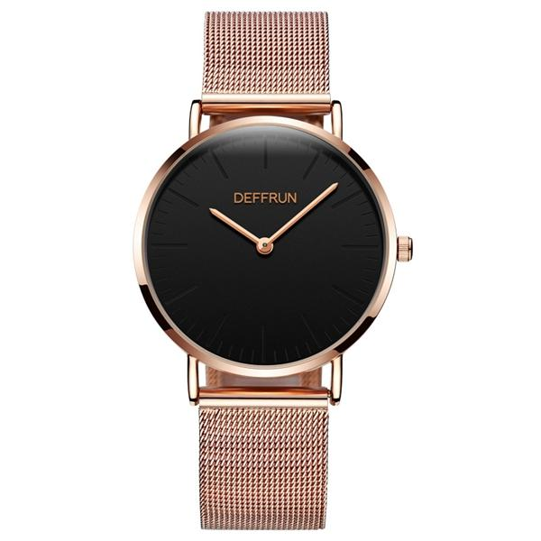 db0f0ba7c8f deffrun dq0004 casual style mesh stainless steel women watch at Banggood