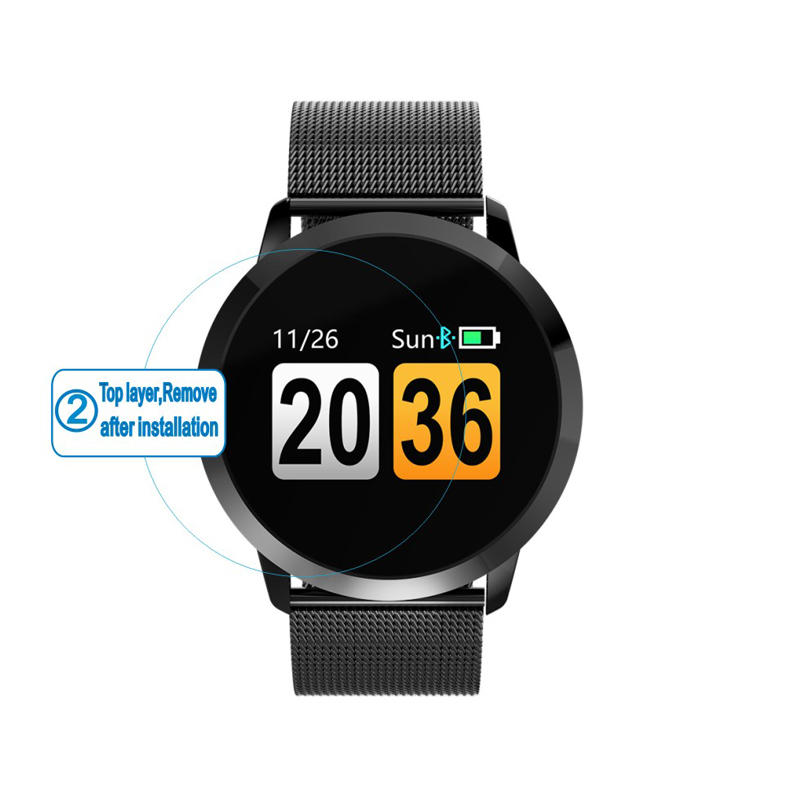 Newwear HD Ультра-прозрачная стеклянная защитная пленка для экрана для Q8 Смарт-часы