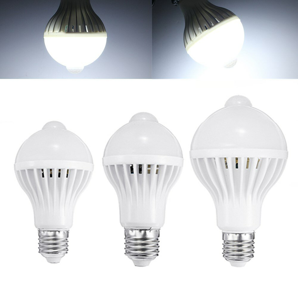 E27 5W 7W 9W PIR Infrared Motion Sensor LED Light Lamp Bulb Home Lighting A85-265V