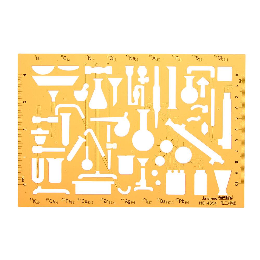 Plantilla de dibujo de símbolos de experimento de laboratorio de ...