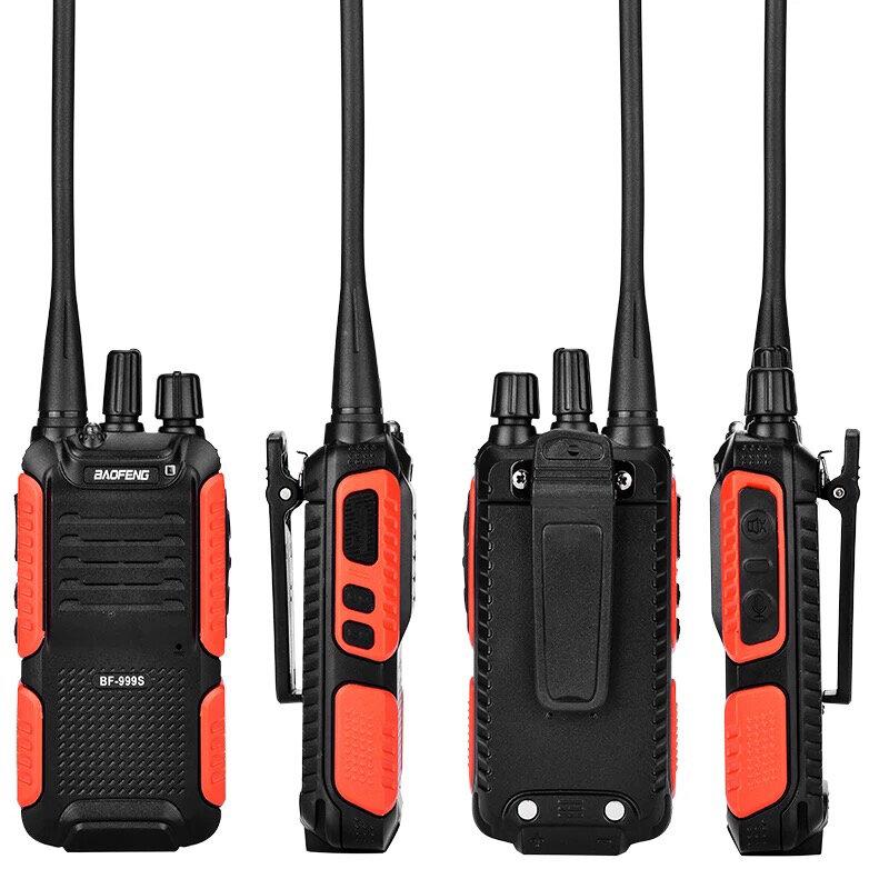 BAOFENG BF-999S Walkie Talkie Banda individual de Dos vías Transceptor de Radio Interfono para el Hotel de Seguridad