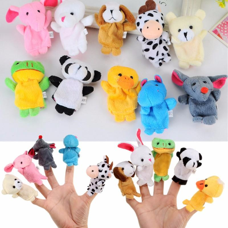 10x Farm Zoo Animal Finger Puppets Toys Boys Girls Party Toys Sale