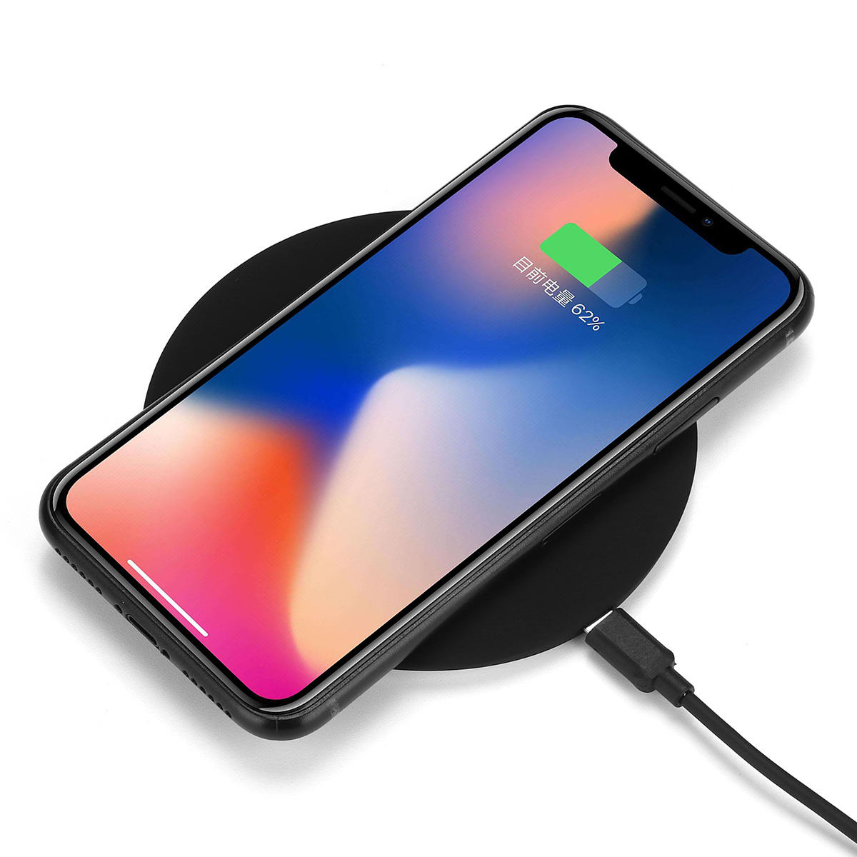 new arrival dbc2b bfb81 USAMS Qi Wireless Desktop Quick Charger Pad for iPhone X 8 Plus Samsung S8  Note 8