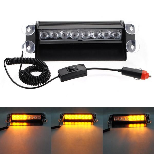 8 LED Car Deck Dash Strobe Flash Waarschuwing Noodverlichting