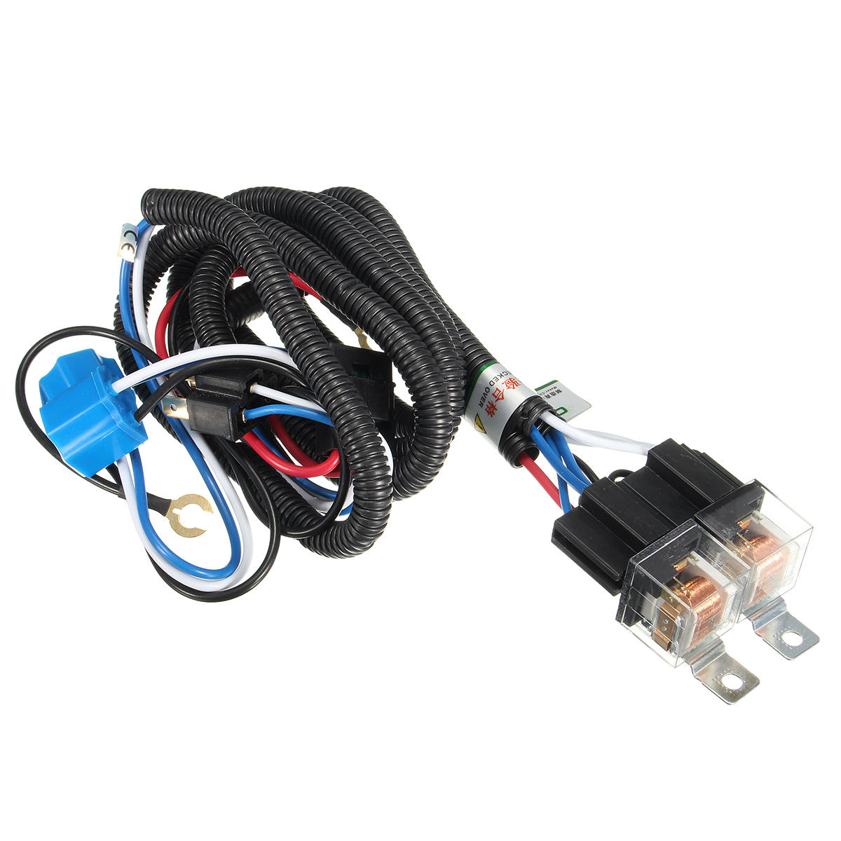 Fabulous 12V 7Inch H4 Headlight 2 Headlamp Relay Wiring Harness Light Socket Wiring 101 Capemaxxcnl