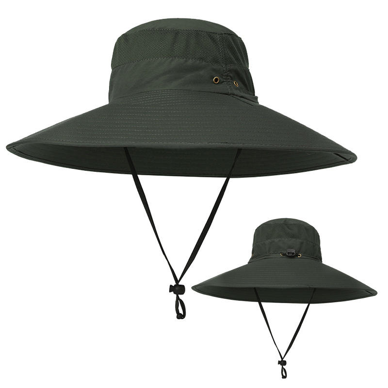 Other Warehouse. Send me a coupon on Messenger. Men Outdoor Mesh Breathable  Sunscreen Wide Brim UV Protection Fishing Sun Hat ... eb90aeb8e9f