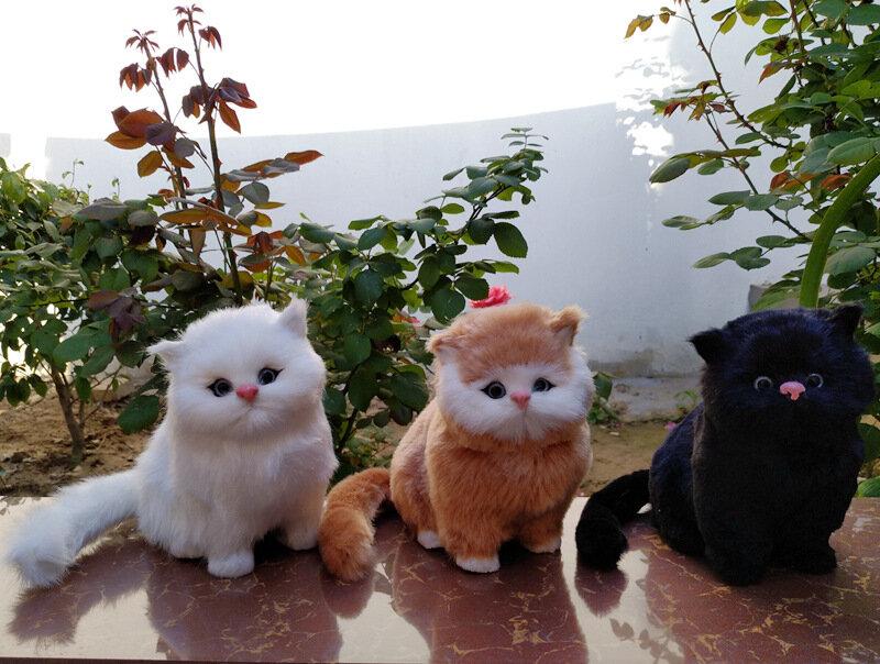 Animales Realistas Gato Modelos De Animales De Peluche De Peluche