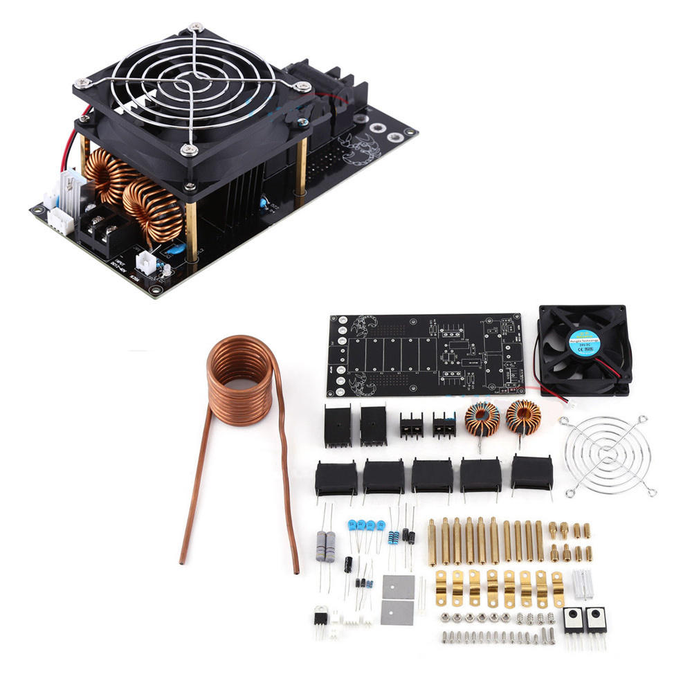 Dc12 36v 1000w 20a Zvs Induction Heating Board Heater Module Cooling Circuits Fan Diy Kit