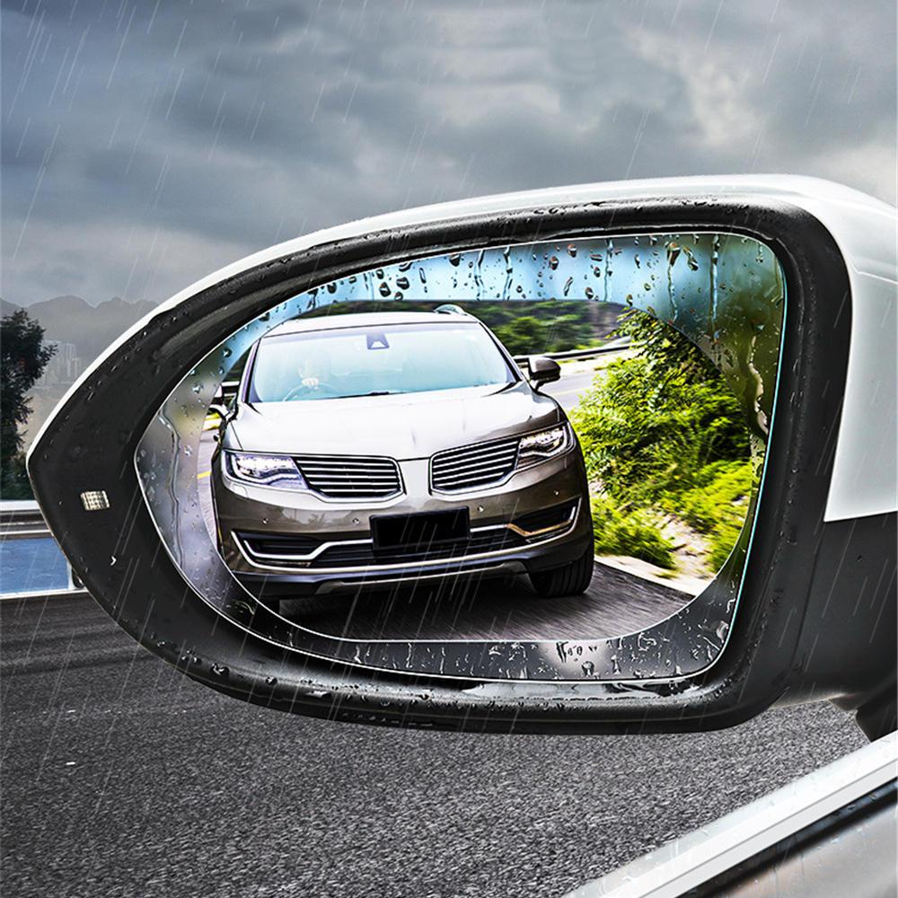 Cafele Car Rearview Mirror Protective Film Rainproof Anti Fog Anti-glare Window Clear Protector 2Pcs