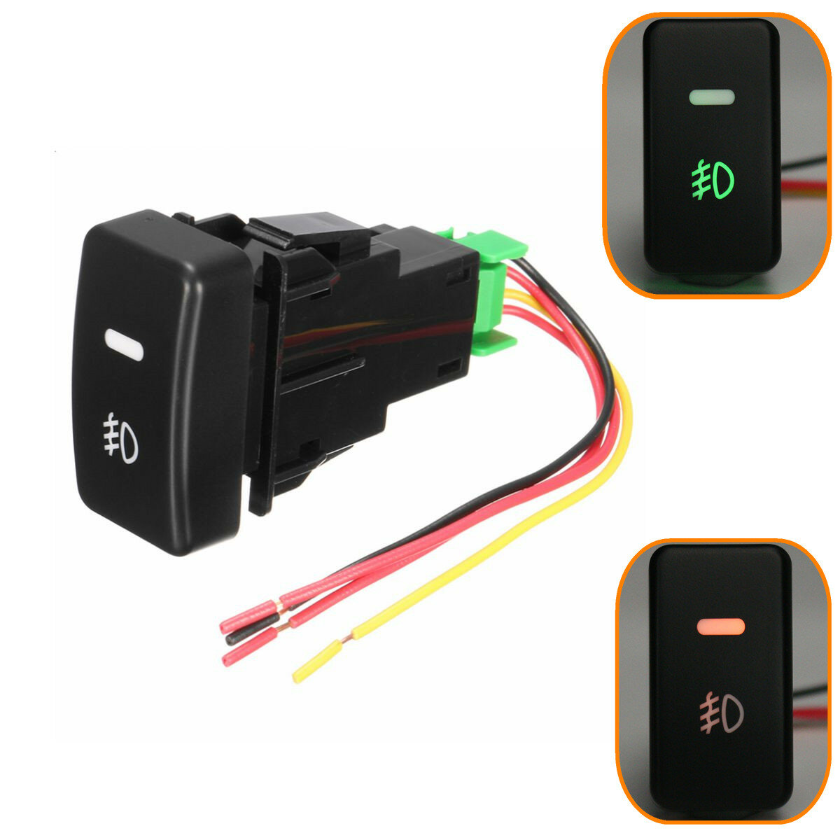 Push On Fog Light Switch For Honda Civic Accord Crv Aftermarket Replacement