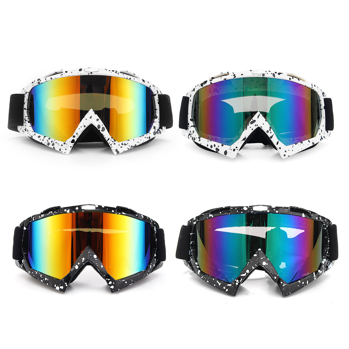 f7c02d971230 Anti-UV Dust Snow Glasses Goggles For Motorcycle Motocross Ski Racing  Scooter COD