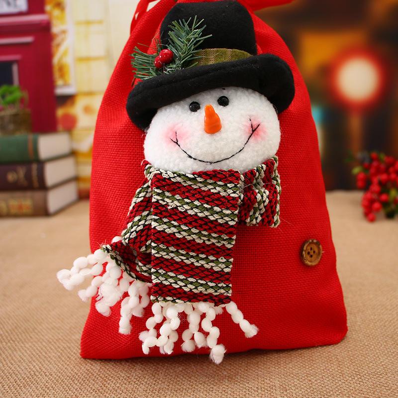 ของขวัญคริสต์มาสถุงขนม Candy พอดี งานแต่งงาน ถุงน่องของขวัญคริสต์มาสบุคคลถุงขนมแอปเปิ้ล