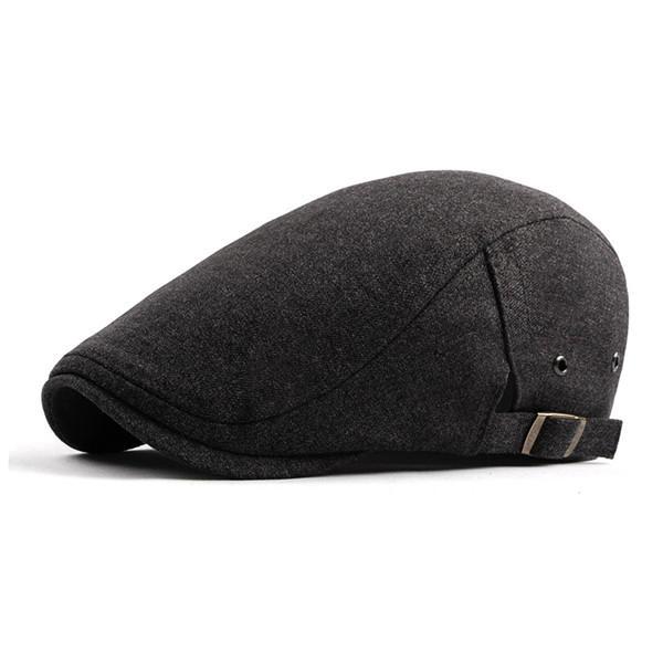 1a1799c97e7 1   12. Men s Cotton Flat IVY Gatsby Newsboy Cap Driving Hunting Hat  Adjustable Beret Caps Grey