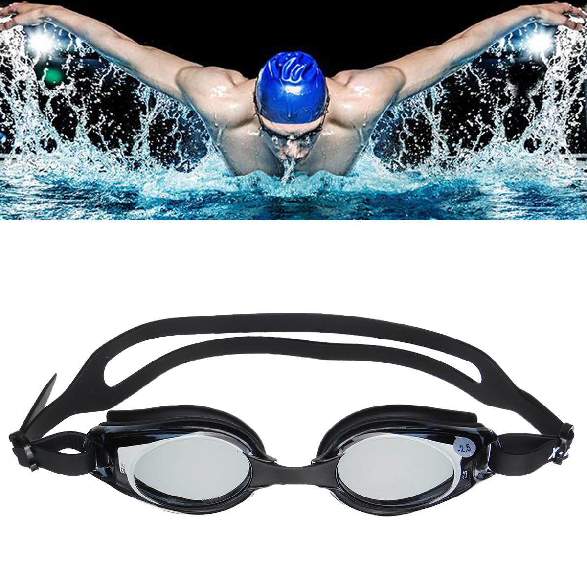 c2918492eb0f Anti-fog Prescription Swimming Goggles UV Proof Nearsighted Tinted Glasses  Myopic Lens Water Sports COD