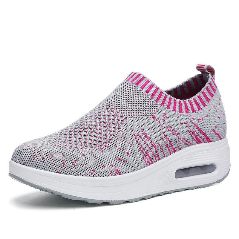 شبكة الروك وحيد أحذية النساء تنفس ضوء عارضة الرياضة في الأحذية