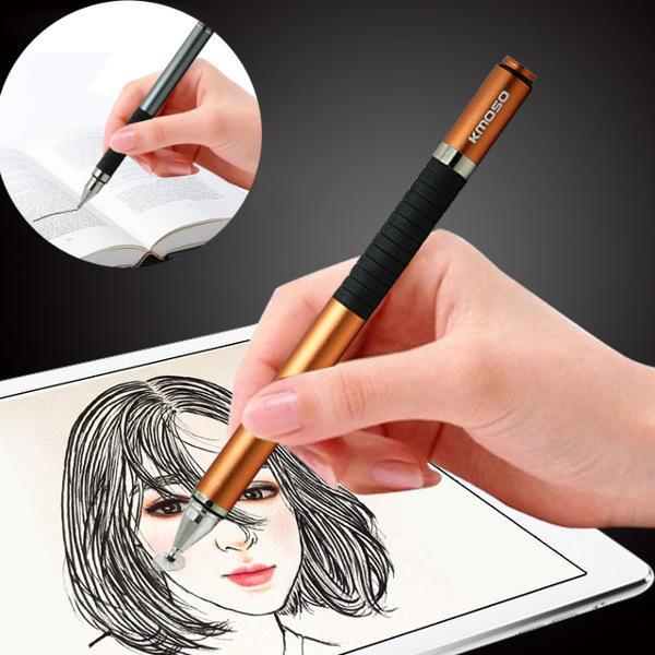 Kmoso Universal 2 in 1 penna di alluminio capacitiva dello schermo di tocco di penna in alluminio per iPad Smartphone