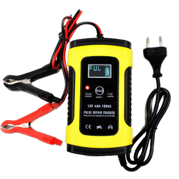 Foxsur 12v 5a Pulse Repair Lcd Battery Charger For Car Motorcycle Agm Gel Wet Lead Acid Cod