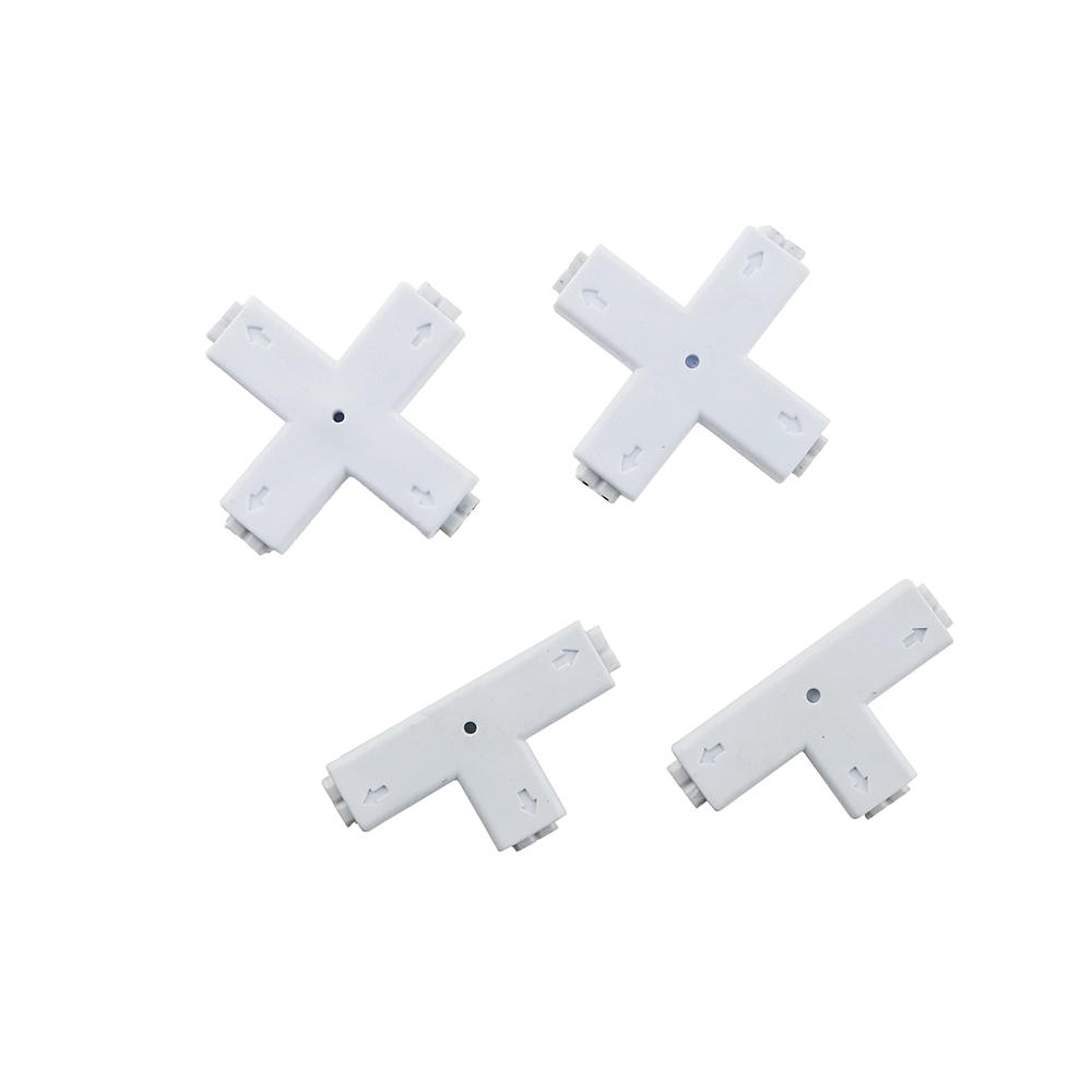 8mm 2 Pin Connector L/+/T Shape Connection for LED Single Color Strip Light