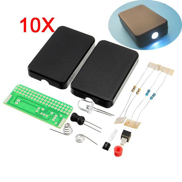 10Pcs DIY FLA-1 Simple Flashlight Circuit Board Electronic Kit