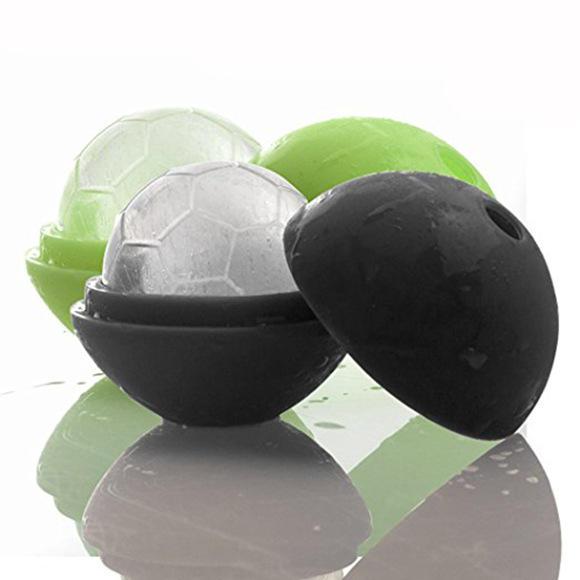 KCASA Творческий футбольный кубик для льда многоразовый Mutil-color Силиконовый Ice Mold Ice Genie Lollipop Maker Mold Kitchen Bar Набор Коктейль виски Ice B