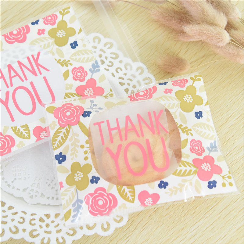 100pcs Thank You Style Christmas Wedding Gift Soap Packaging Bags