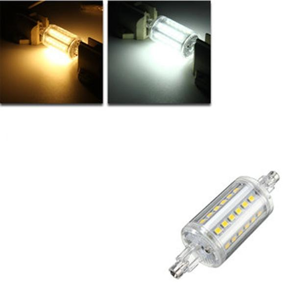 Dimmable R7S 4W 78mm 36 SMD 2835 LED Warm White White Light Lamp Bulb AC85-265V