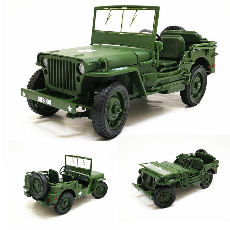 KDW 685006 Liga ABS 1:18 Militar Tático Carro Diecast Modelo Abrindo Capuz Painéis para Revelar Brinquedos Do Motor