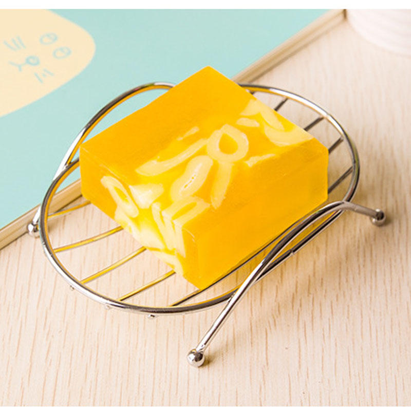 Stainless Steel Creative Simple Fashion Soap Box Stand Soap Dish Square Round Drain Rack Simple Rack Bathroom Accessory