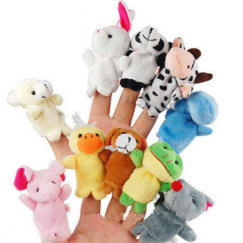 Family Finger Puppets Soft Doek Animal Doll Baby Hand Toys Voor Kid Children Educational Gift