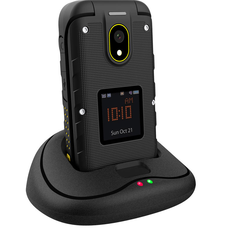 al aire libre F2 IP68 Impermeable 2.4 pulgadas 1200mAh Tarjeta SIM Dual Bluetooth FM Flip Teléfono con características robustas