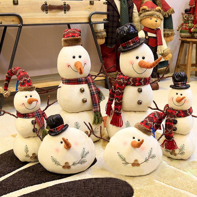 Weihnachten 2017 Leinen Schneemann Puppen Ornament Tisch ...