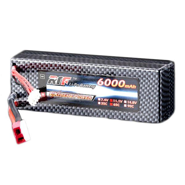 พลังยักษ์ 11.1V 6000mAh 3S 65C Lipo แบตเตอรี่ T Plug Hardcase Pack