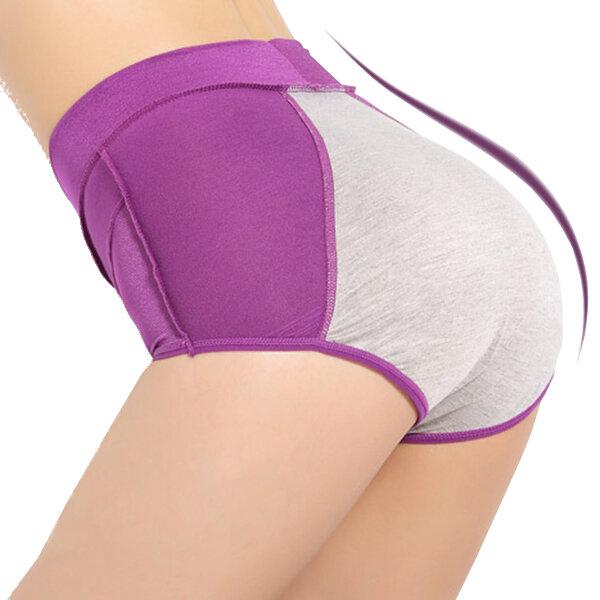 Femmes Confortable Imperméable à l'Eau Hauteur de la Ceinture Menstruel Physiologique Sous-vêtements Slips