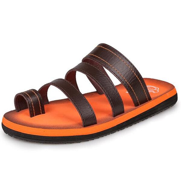 Men Beach Slipper Outdoor Fashion Clip Toe Sandals