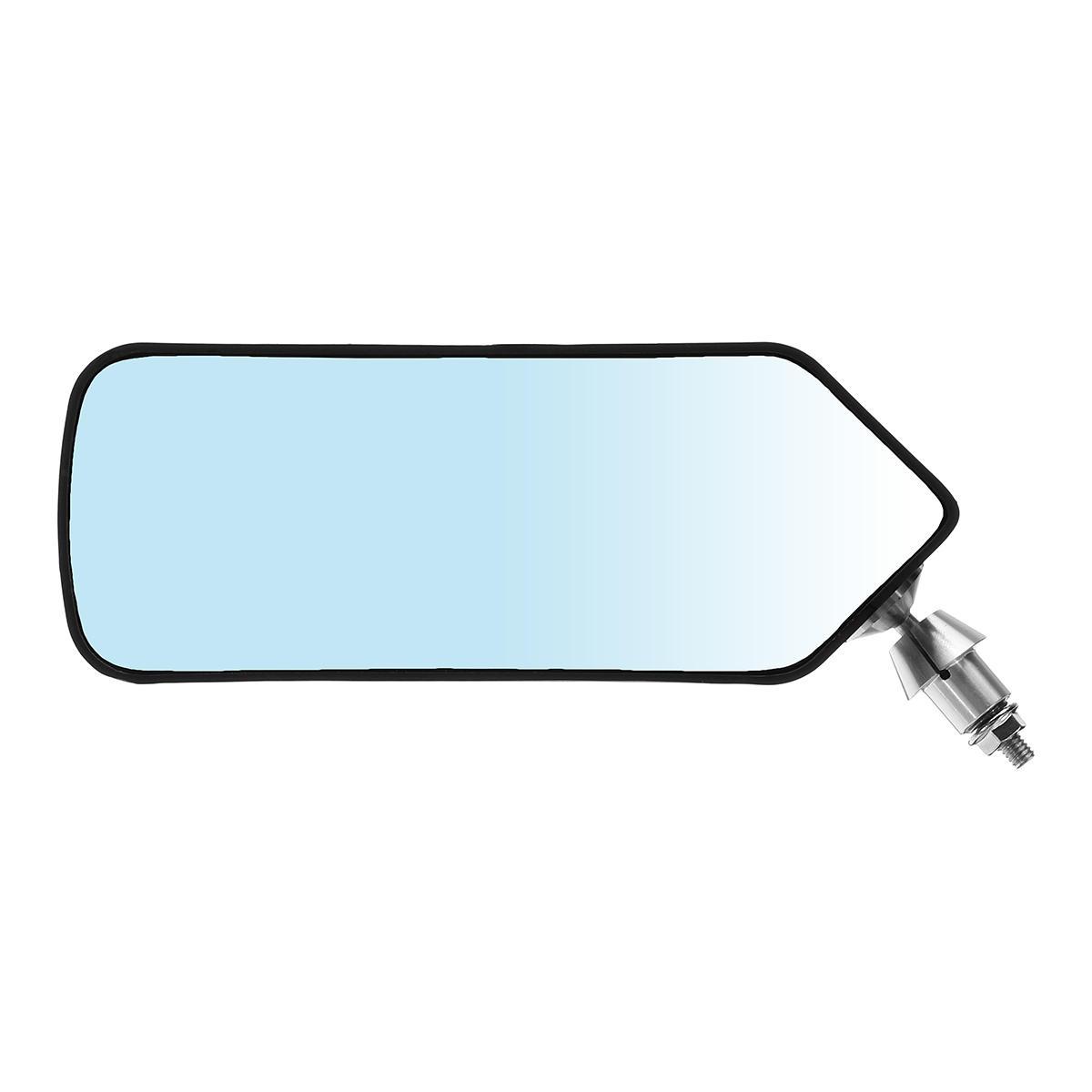 Universal F1 Estilo Azul Suporte de Metal Side Car Esquerda e Direita Espelho