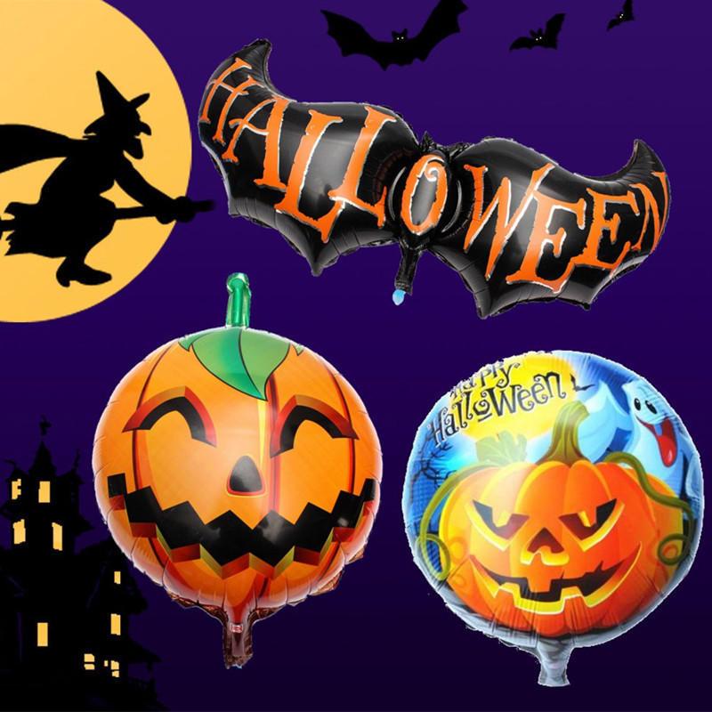 Halloween Pumpkin Head Party Home Decorations Props Foil Balloons